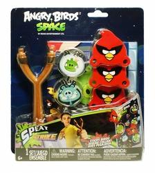 Игра на меткость Cердитые птички с мишенью, рогаткой и липучками-бросалками Angry Birds Tech4Kids