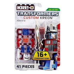 Конструктор с минифигуркой Трансформер Optimus Prime 16-в-1, из серии Custom Kreon, KRE-O Transformers, Hasbro [A6085]