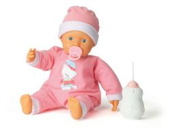 кукла 38442 пупс 38см сосет бутылочку tm falca