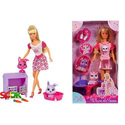 Кукольный набор Steffi Love Штеффи и домашние любимцы-близнецы в ассорт (573 2734)