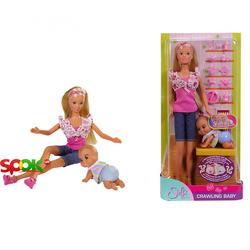 Кукольный набор Steffi Love Штеффи и малыш который ползает с аксессуарами (5732618)