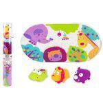 Набор коврик для ванной + 3 игрушки Джунгли