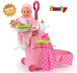 Набор для кормления и купания пупса в чемодане Smoby Minnie 24207 NEW!
