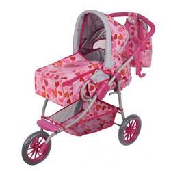 Розовая трёхколесная коляска для куклы Gulliver (Гулливер)