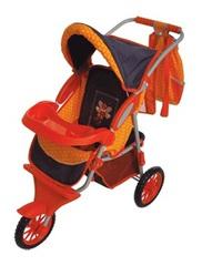 Коляска с сумочкой для куклы (оранжевая с пчёлкой), Gulliver, с 3 лет
