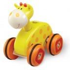 Каталка Жираф на колесиках Wonderworld