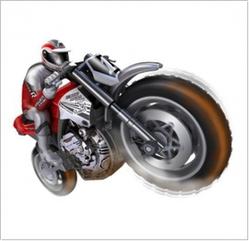 Мотоцикл с гироскопом SilverLit Gyro Buzz на радиоуправлении